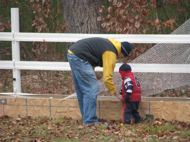 Our first rink. Fall 2008.